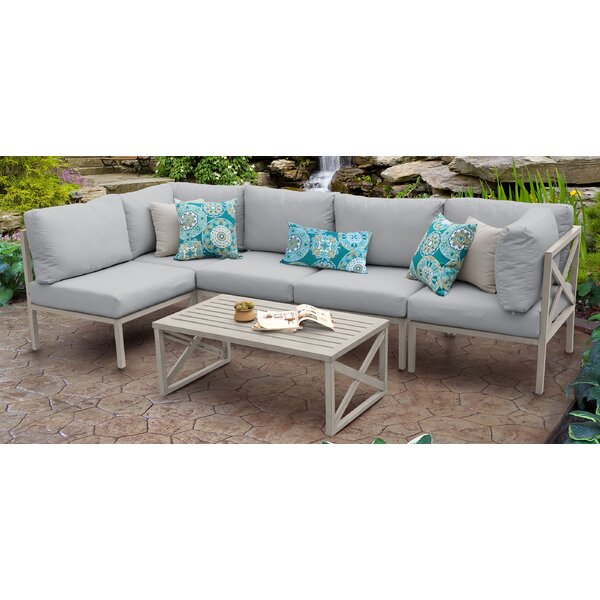 Carlisle 6 Piece Sectional Seating Group with Cushions by TK Classics