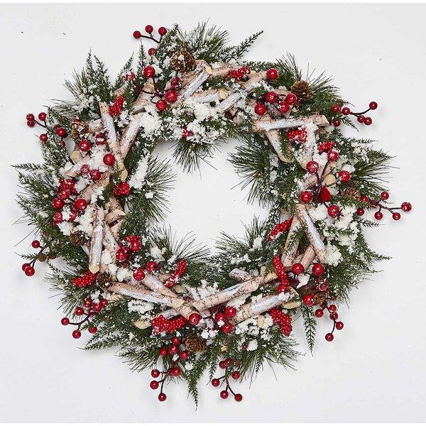 Artificial Birch Log 17 Styrofoam Wreath by The Holiday Aisle