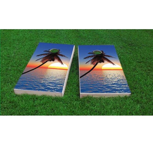 Palm Tree Sunset Light Weight Cornhole Game Set by Custom Cornhole Boards