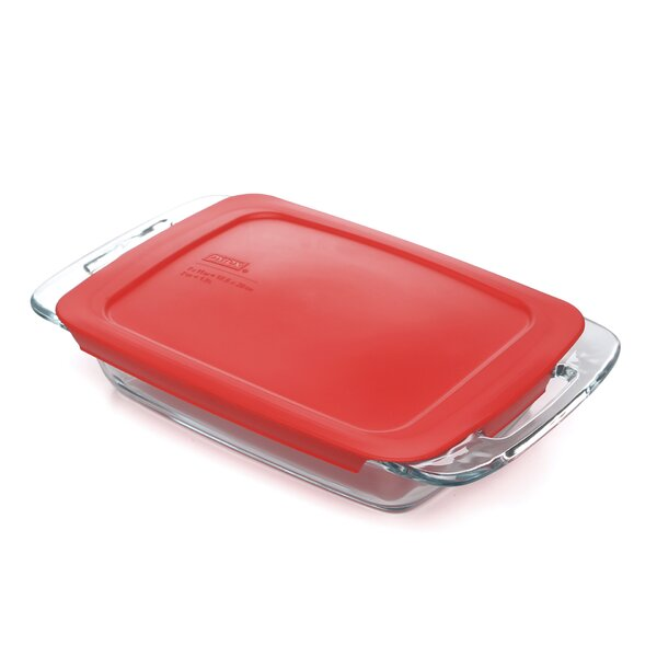 Easy Grab 2 Qt. Oblong Baking Dish with Cover by Pyrex