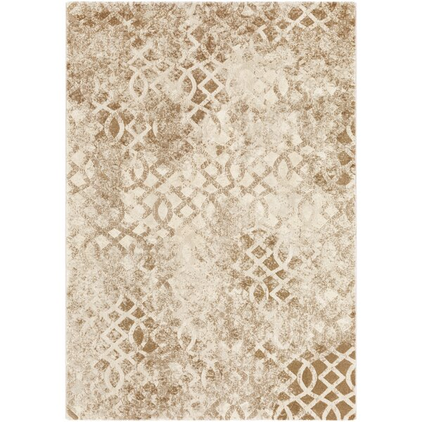 Oakdene Distressed Camel/Tan Area Rug by Wrought Studio