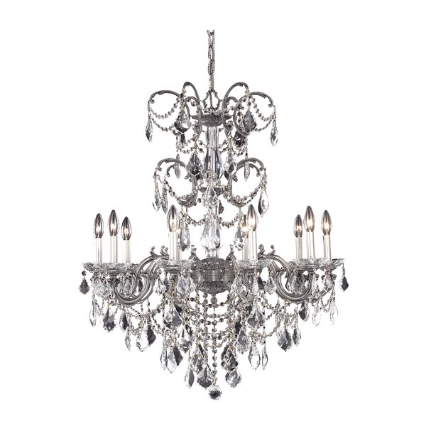 Cherie 10 - Light Candle Style Classic / Traditional Chandelier By Rosdorf Park