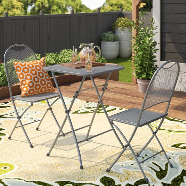 Denney 3 Piece Folding Bistro Set by Latitude Run