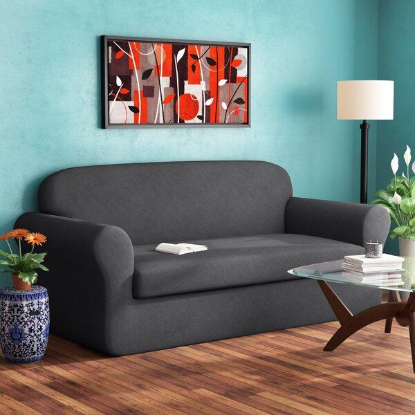 Knit Jacquard T-Cushion Sofa Slipcover By Winston Porter