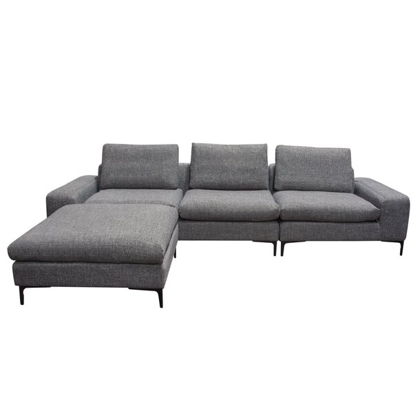 Flux Modular Sectional with Ottoman by Diamond Sofa