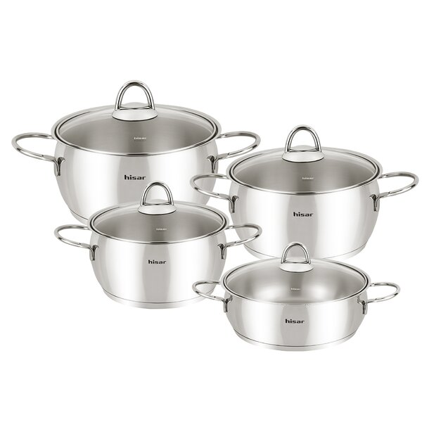 Mercury Pot Set with Lid by Hisar