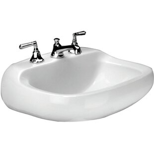 Best Choices Cape Charles Vitreous China 21 Wall Mount Bathroom Sink with Overflow By Mansfield Plumbing Products
