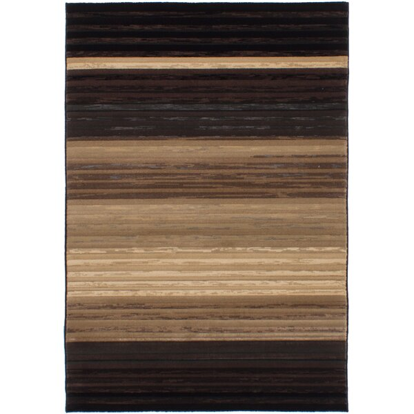 Partida Black/Tan Area Rug by Bloomsbury Market
