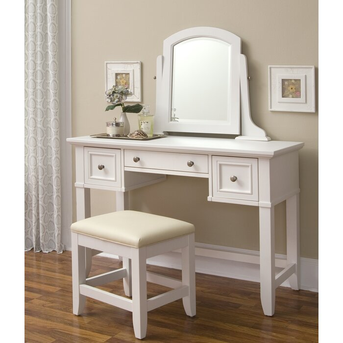 Awe Inspiring Barnard Vanity Stool Set With Mirror Gmtry Best Dining Table And Chair Ideas Images Gmtryco