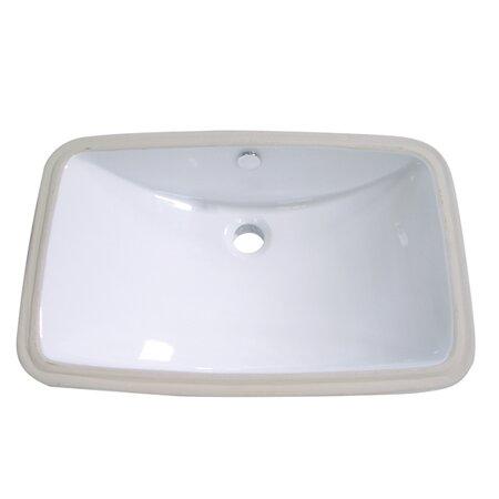 Forum Ceramic Rectangular Undermount Bathroom Sink with Overflow by Kingston Brass