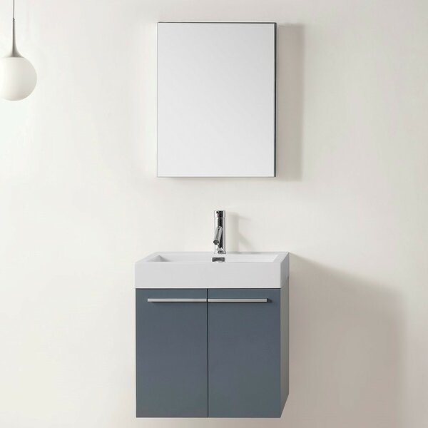 Frausto 23 Wall-Mounted Single Bathroom Vanity Set with Mirror by Brayden Studio
