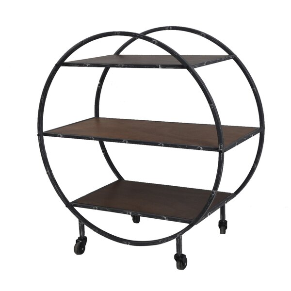 Albert Geometric Etagere Bookcase by 17 Stories