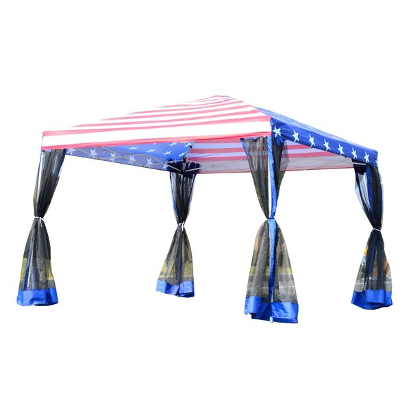 9.5 Ft. W x 10 Ft. D Steel Pop-Up Canopy by Outsun