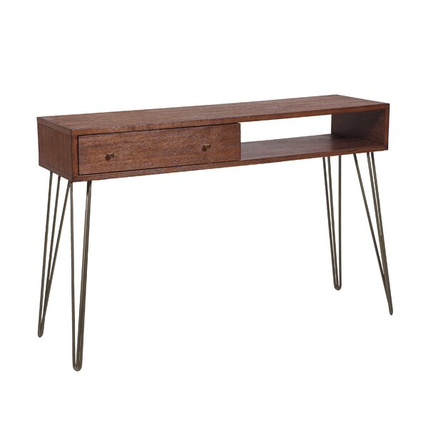 Larock Mid Century 1 Drawer Storage Console Table by Union Rustic