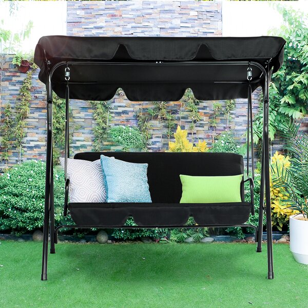 Erving Outdoor Porch Swing With Stand By Freeport Park