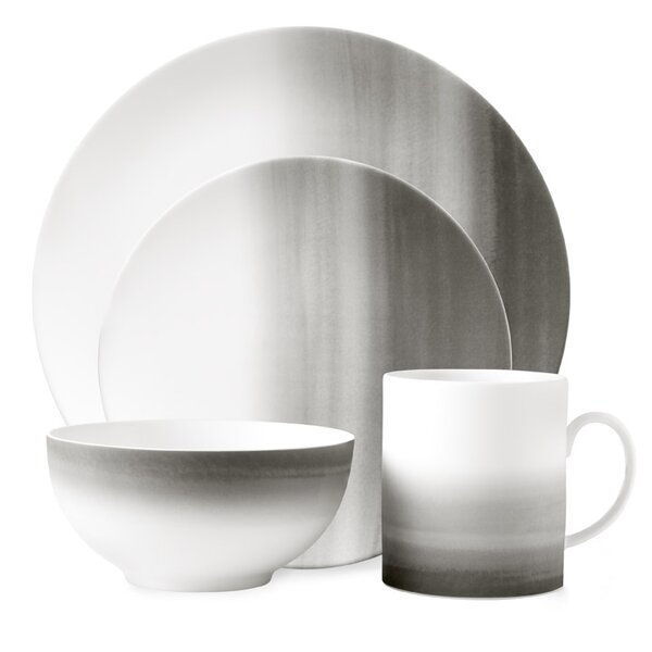 Degradée 4 Piece Bone China Place Setting Set, Service for 1 by Vera Wang