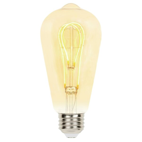 5W E26 Dimmable LED Edison Light Bulb Amber by Westinghouse Lighting