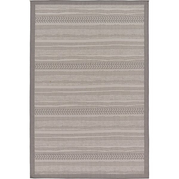 Cyrus Gray Outdoor Area Rug by Langley Street