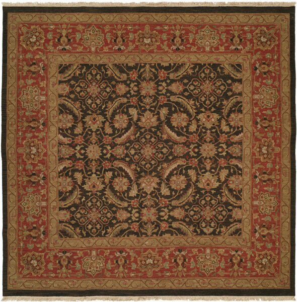 Forbesganj Hand-Knotted Blue / Rose Area Rug by Meridian Rugmakers