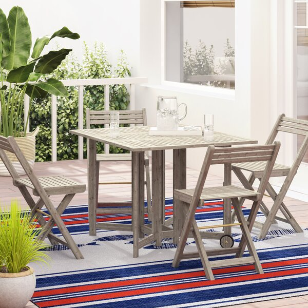 Laoise Gardens 5 Piece Dining Set by Highland Dunes