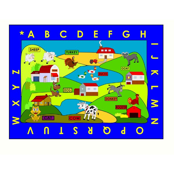 Farm Village Area Rug by Kids World Carpets