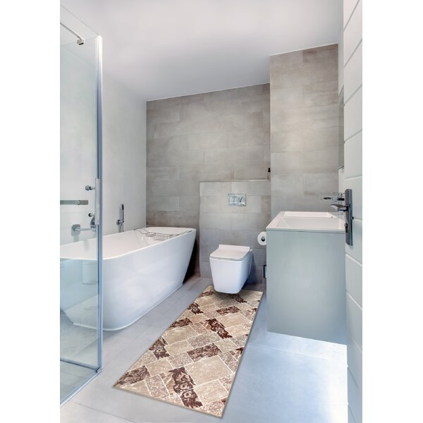 Jewett Print Absorbent Soft Rectangle Non-Slip Patchwork Bath Rug