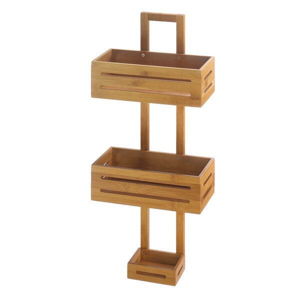 Thacker Bamboo Shower Caddy by Millwood Pines