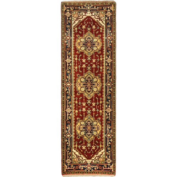 One-of-a-Kind Doerr Hand-Knotted Dark Copper Area Rug by Isabelline