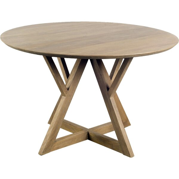 Badgett Solid Wood Dining Table by Foundry Select