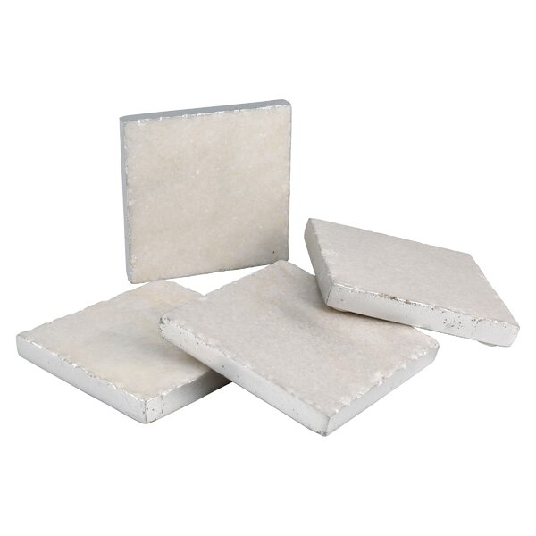 Old Hollywood Square Marble Coaster (Set of 4) by Thirstystone
