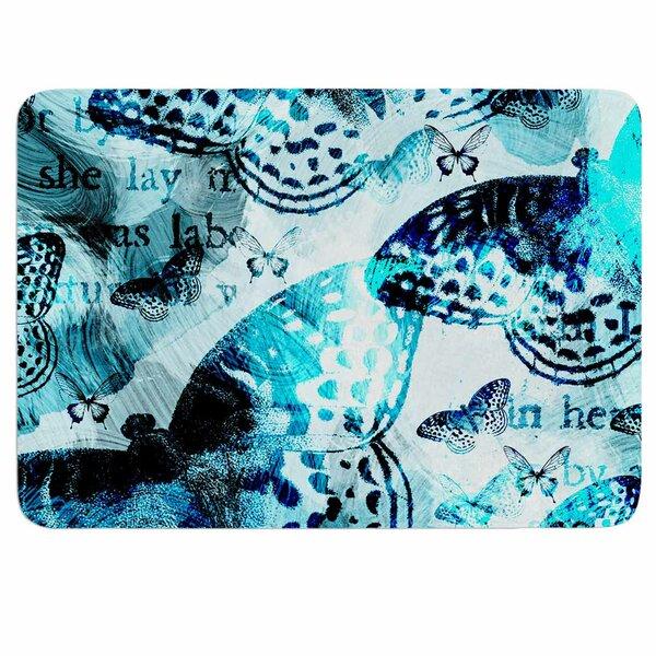 Blue Beauty by Li Zamperini Memory Foam Bath Mat by East Urban Home