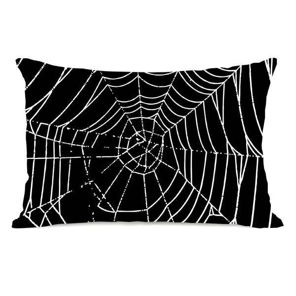 All Over Spider Webs Throw Pillow by One Bella Casa