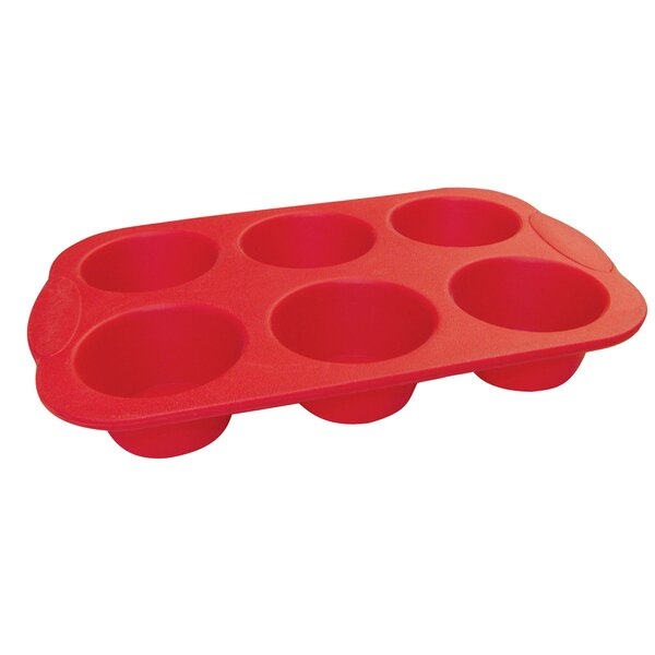 La Patisserie 6 Cup Non-Stick Silicone Muffin Pan by MyCuisina
