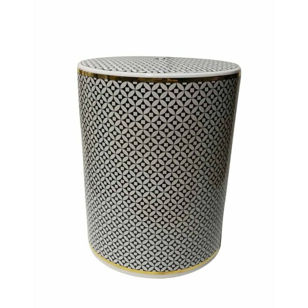 Keiser Geometric Patterned Ceramic Garden Stool by Mercer41