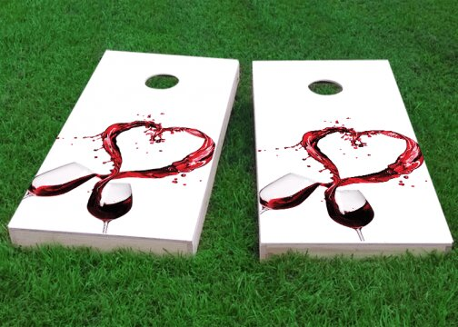 Wine Lover Cornhole Game (Set of 2) by Custom Cornhole Boards