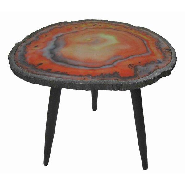 Bilney Wood/Metal End Table by Mercer41