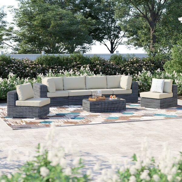 Keiran 7 Piece Sunbrella Sofa Set with Cushions Brayden Studio BRSU4154