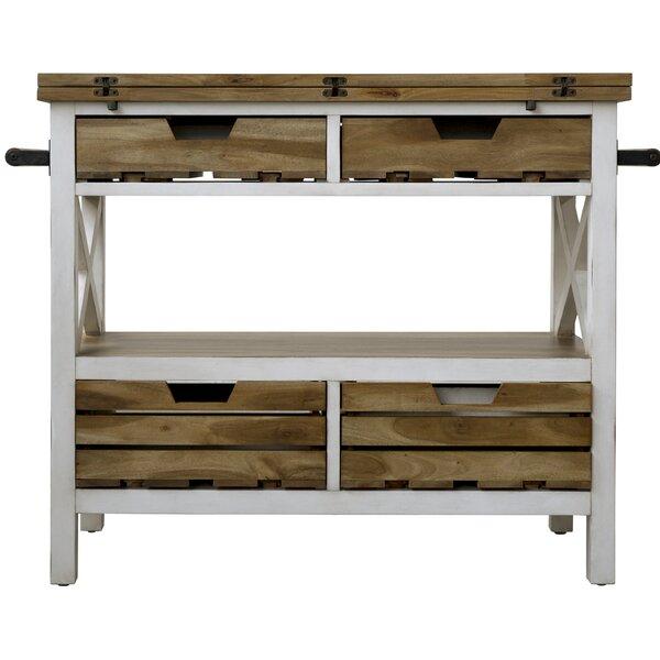 Keener Kitchen Island Manufactured Wood by Gracie Oaks