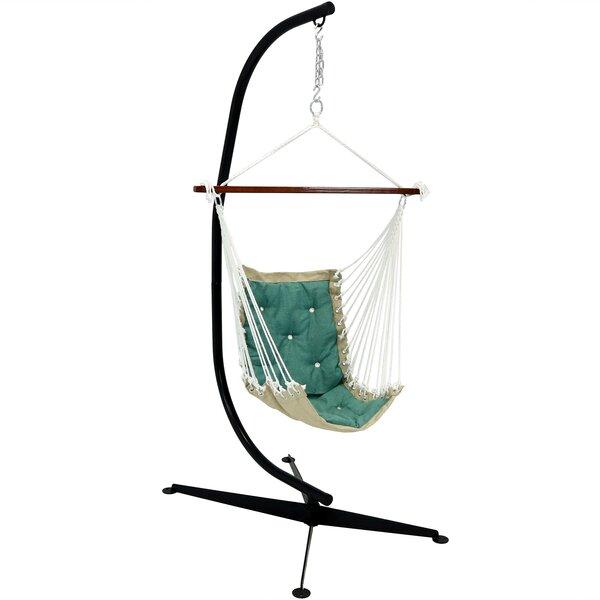 Creditonn Tufted Chair Hammock with Stand by Freeport Park
