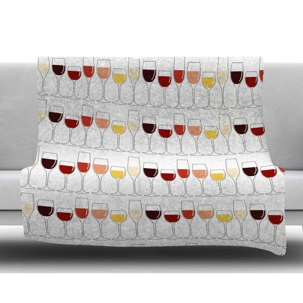 Fine Wines Fleece Blanket by East Urban Home