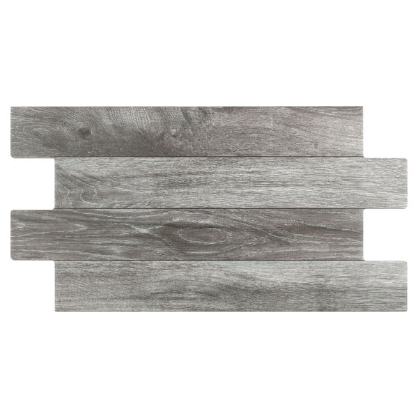Moscow 12.25 x 23.63 Porcelain Wood Look/Field Tile in Gray by EliteTile