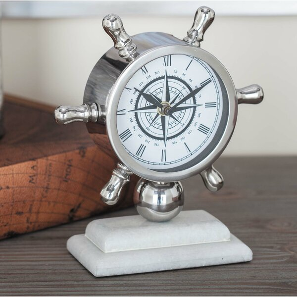 Stainless Steel Tabletop Clock by Cole & Grey| @ $54.99