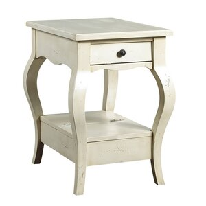 D'Orsay End Table with Storage French Heritage