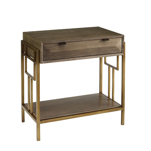 Sherpa 1 Drawer Nightstand by Wrought Studio