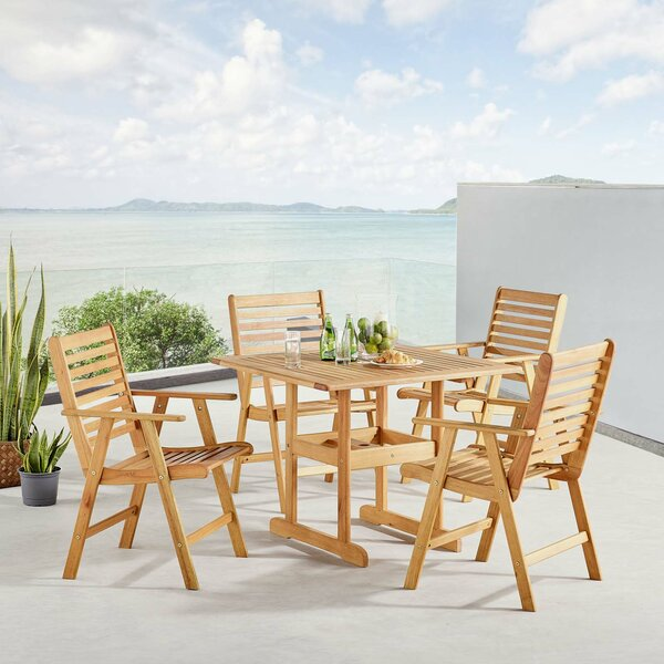Sharice Outdoor 5 Piece Dining Set by Highland Dunes