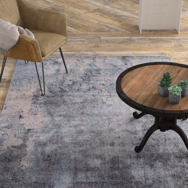 Mcgrane Abstract Blue Area Rug by Williston Forge
