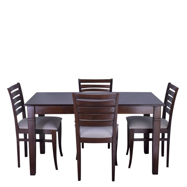 Maag 5 Piece Solid Wood Dining Set by Red Barrel Studio