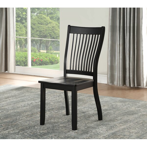 Harcourt Solid Wood Dining Chair (Set of 2) by Highland Dunes Highland Dunes