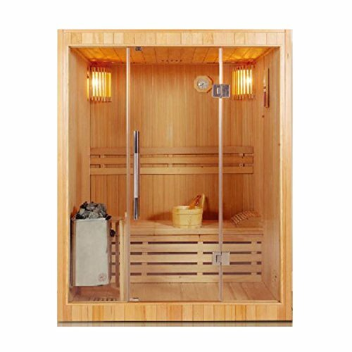 Canadian Cedar 3 Person Steam Sauna by ALEKO