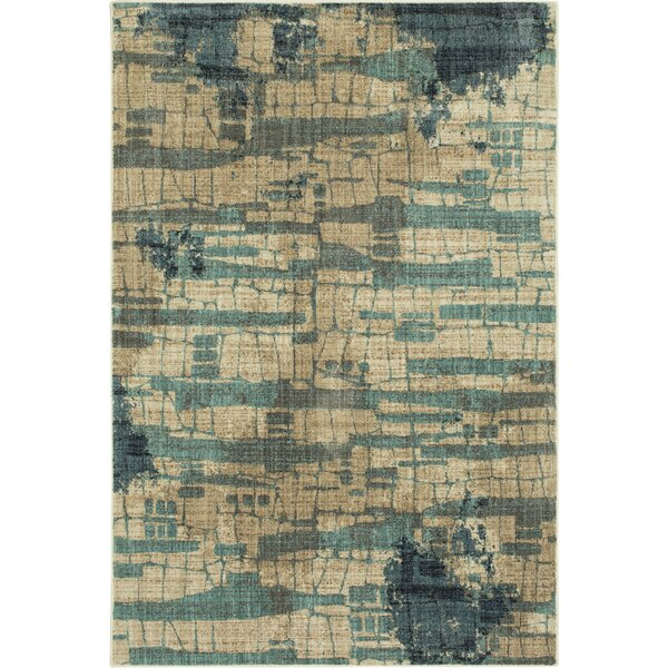 Wainwright Flagstone Polyester Lagoon  Area Rug by Williston Forge